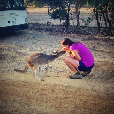 Right before Kate got mauled by the kangaroo (just kidding :) )