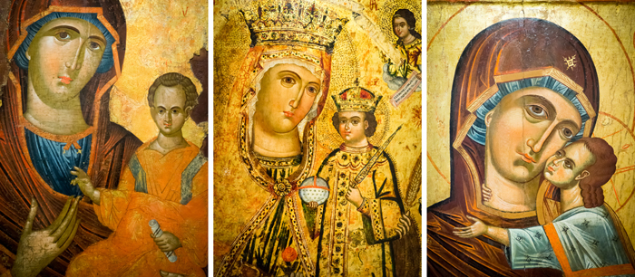 No disrespect to these amazing paintings, but i've always wondered why medieval painters chose to make baby Jesus look like a middle-aged man with a receding hairline...left to right: John McEnroe baby, John Belushi baby, and Billy Ray Cyrus baby...